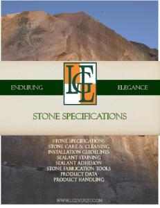 Stone Specifications. Stone Specifications
