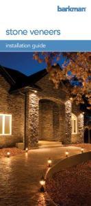 stone veneers installation guide