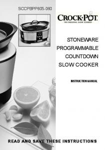 STONEWARE PROGRAMMABLE COUNTDOWN SLOW COOKER