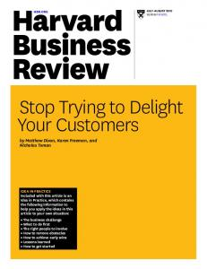 Stop Trying to Delight Your Customers