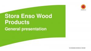 Stora Enso Wood Products. General presentation