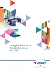 Storage & Accessories Product Catalogue Q4 2013