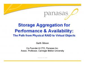 Storage Aggregation for Performance & Availability: