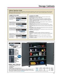 Storage Cabinets. GAUGE RANGE Details above. ULTRA-CAPACITY GRADE