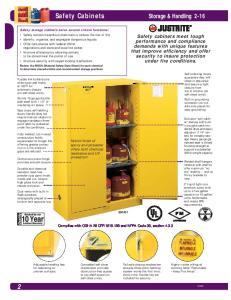 Storage & Handling Safety Cabinets