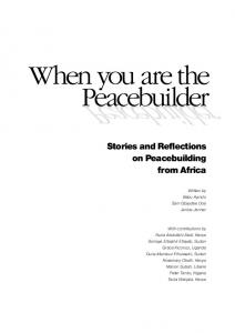 Stories and Reflections on Peacebuilding from Africa