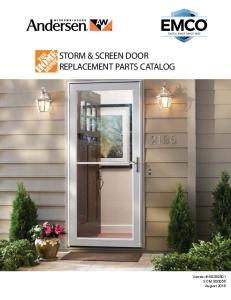 STORM & SCREEN DOOR REPLACEMENT PARTS CATALOG
