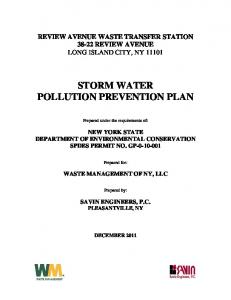 STORM WATER POLLUTION PREVENTION PLAN