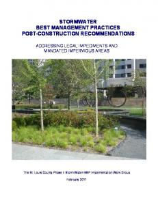 STORMWATER BEST MANAGEMENT PRACTICES POST-CONSTRUCTION RECOMMENDATIONS