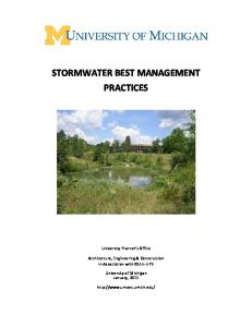 STORMWATER BEST MANAGEMENT PRACTICES