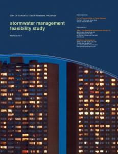 stormwater management feasibility study