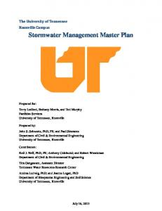 Stormwater Management Master Plan