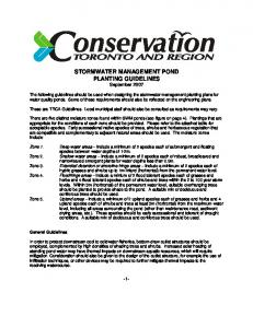 STORMWATER MANAGEMENT POND PLANTING GUIDELINES September 2007