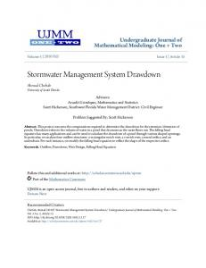 Stormwater Management System Drawdown