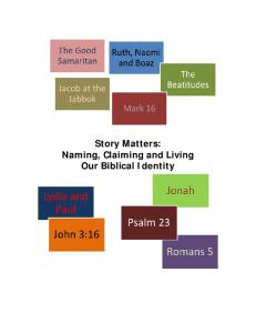 Story Matters: Naming, Claiming and Living Our Biblical Identity