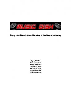 Story of a Revolution: Napster & the Music Industry