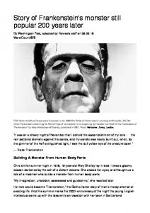 Story of Frankenstein's monster still popular 200 years later