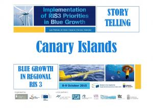 STORY TELLING. Canary Islands BLUE GROWTH IN REGIONAL RIS 3