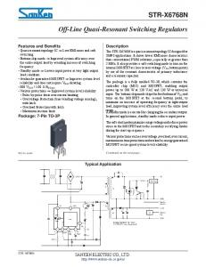 STR-X6768N. Off-Line Quasi-Resonant Switching Regulators