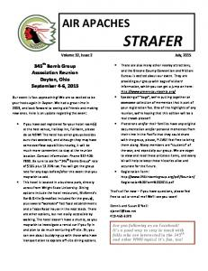 STRAFER Volume 32, Issue 2 July, 2015
