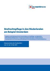 Strafrechtspflege in den Niederlanden am Beispiel Amsterdam