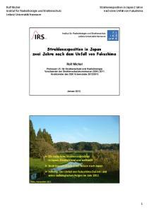 Strahlenexposition in Japan zwei Jahre nach dem Unfall von Fukushima