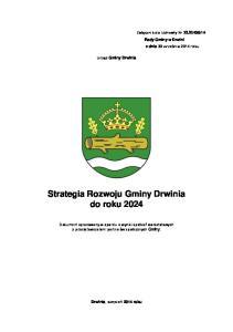 Strategia Rozwoju Gminy Drwinia do roku 2024
