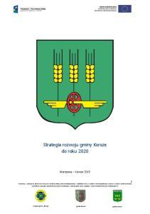 Strategia rozwoju gminy Korsze do roku 2020