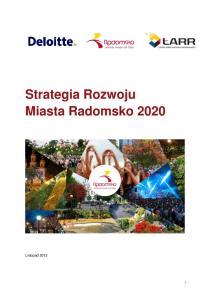 Strategia Rozwoju Miasta Radomsko 2020