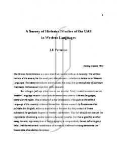 Strategic A Survey of Historical Studies of the UAE in Western Languages