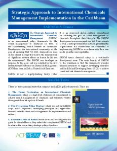 Strategic Approach to International Chemicals Management Implementation in the Caribbean