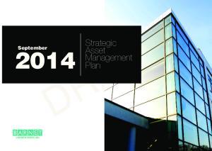 Strategic Asset Management Plan 1 DRAFT. Strategic Asset Management Plan. September