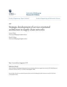 Strategic development of service orientated architecture in supply chain networks