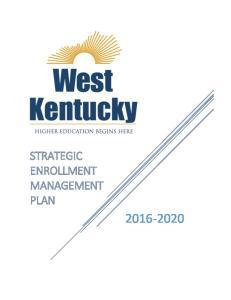 STRATEGIC ENROLLMENT MANAGEMENT PLAN