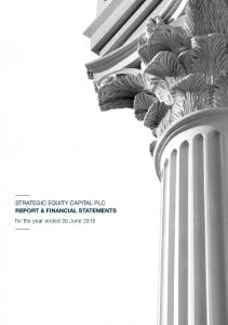 STRATEGIC EQUITY CAPITAL PLC REPORT & FINANCIAL STATEMENTS