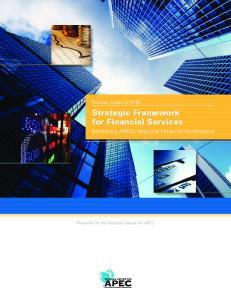 Strategic Framework for Financial Services