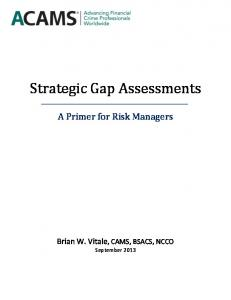 Strategic Gap Assessments. A Primer for Risk Managers