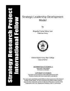 Strategic Leadership Development Model