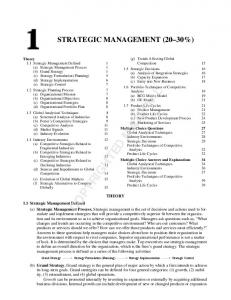 STRATEGIC MANAGEMENT (20 30%)