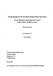 Strategic Management and Cost-Benefit Analysis of Major Sport Events
