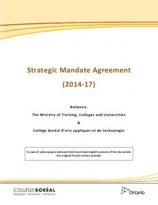 Strategic Mandate Agreement ( )