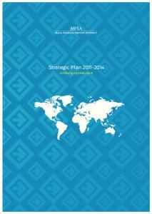 Strategic Plan Achieving a global reach