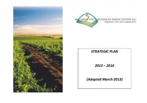 STRATEGIC PLAN. (Adopted March 2013)