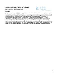 STRATEGIC PLAN ANNUAL REPORT JANUARY 2014 DECEMBER 2014
