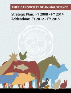 Strategic Plan: FY 2008 FY 2014 Addendum: FY 2012 FY 2015