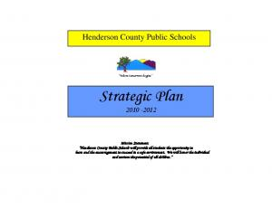 Strategic Plan. Henderson County Public Schools