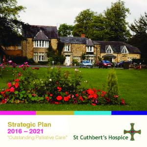 Strategic Plan Outstanding Palliative Care. Strategic Plan