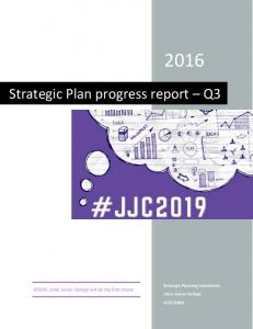 Strategic Plan progress report Q3