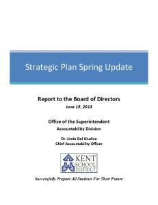 Strategic Plan Spring Update