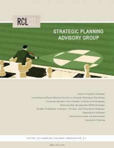 STRATEGIC PLANNING ADVISORY GROUP